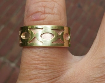 Gothic Copper and Brass Ring
