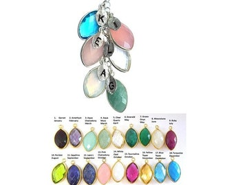 Mother's Day Gift Mom Necklace Mother Gift Sterling Silver Necklace Personalized Birthstone Gemstone Mom gift Cascading Necklace Grandma