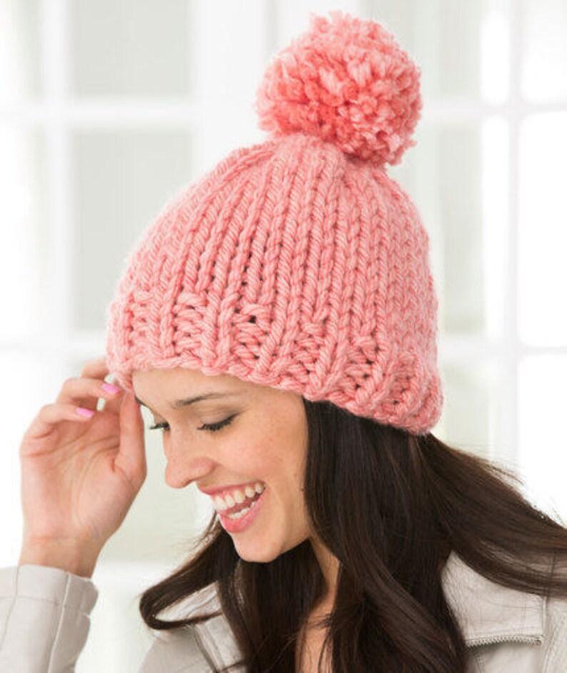 e1421775 Super Chunky Alpaca & Wool Knitted Pom Pom Hat S M L XL sizes | Etsy
