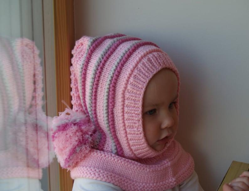 Pasamontañas de punto para bebé niño niño con capucha  613f1e84cad