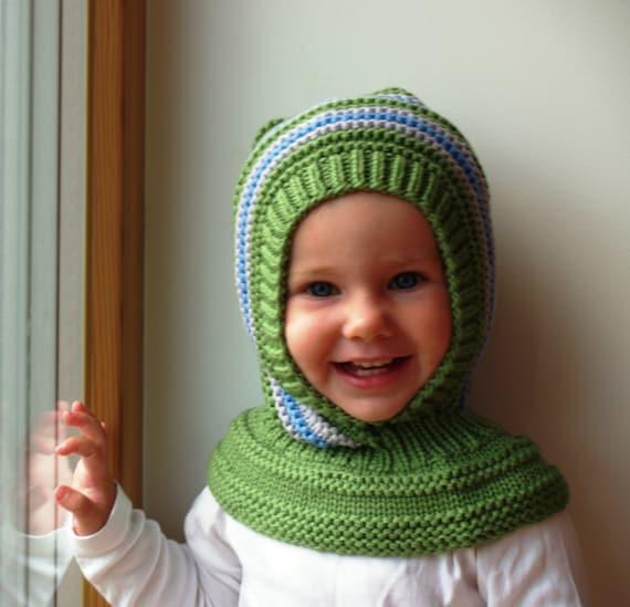 Cute Gray Fox Hand-Woven 6-12 years old Children Crochet Neck Cap Hat Clothes