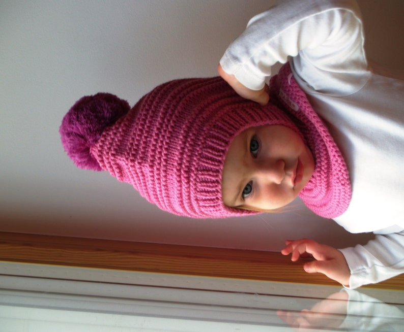 Merino Pixie pasamontañas bebé   niño   niña con capucha con  85271cce925