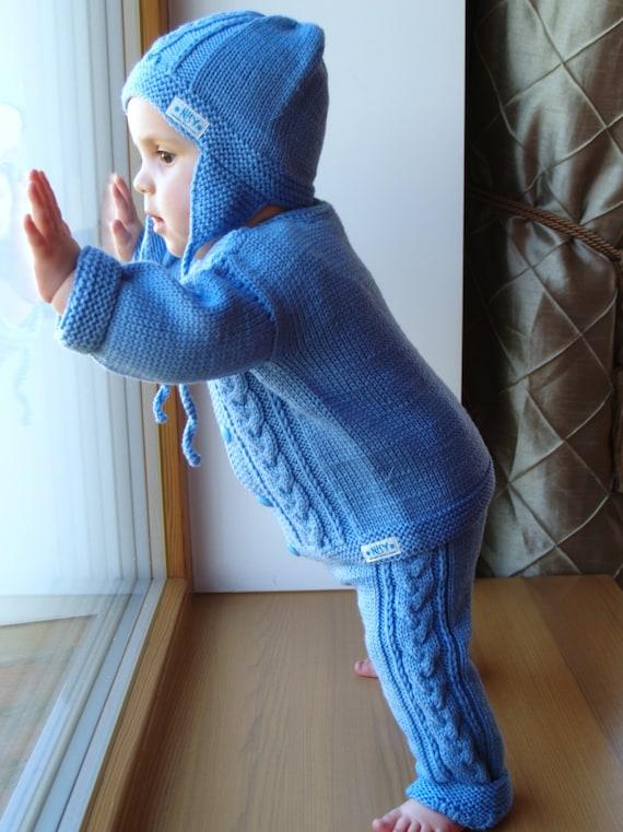 Baby jacke und hose stricken
