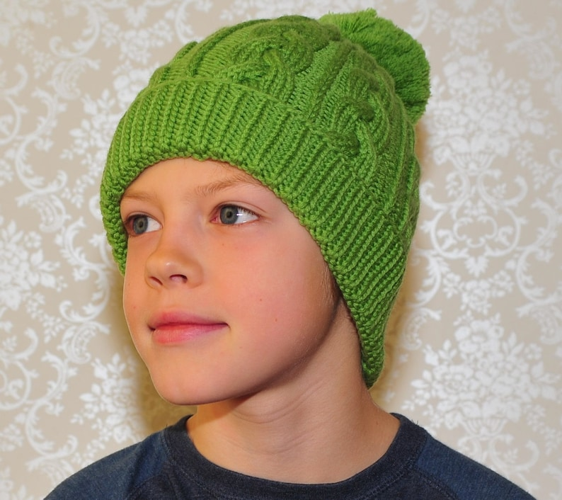 6c5b3c89dd1 READY TO SHIP all sizes Hand Knit merino wool hat for kids