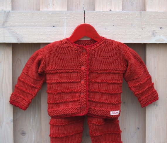 Hat /& Mittens Knitted Baby Boxed Gift Set Newborn // 0-3 Cardigan Trousers