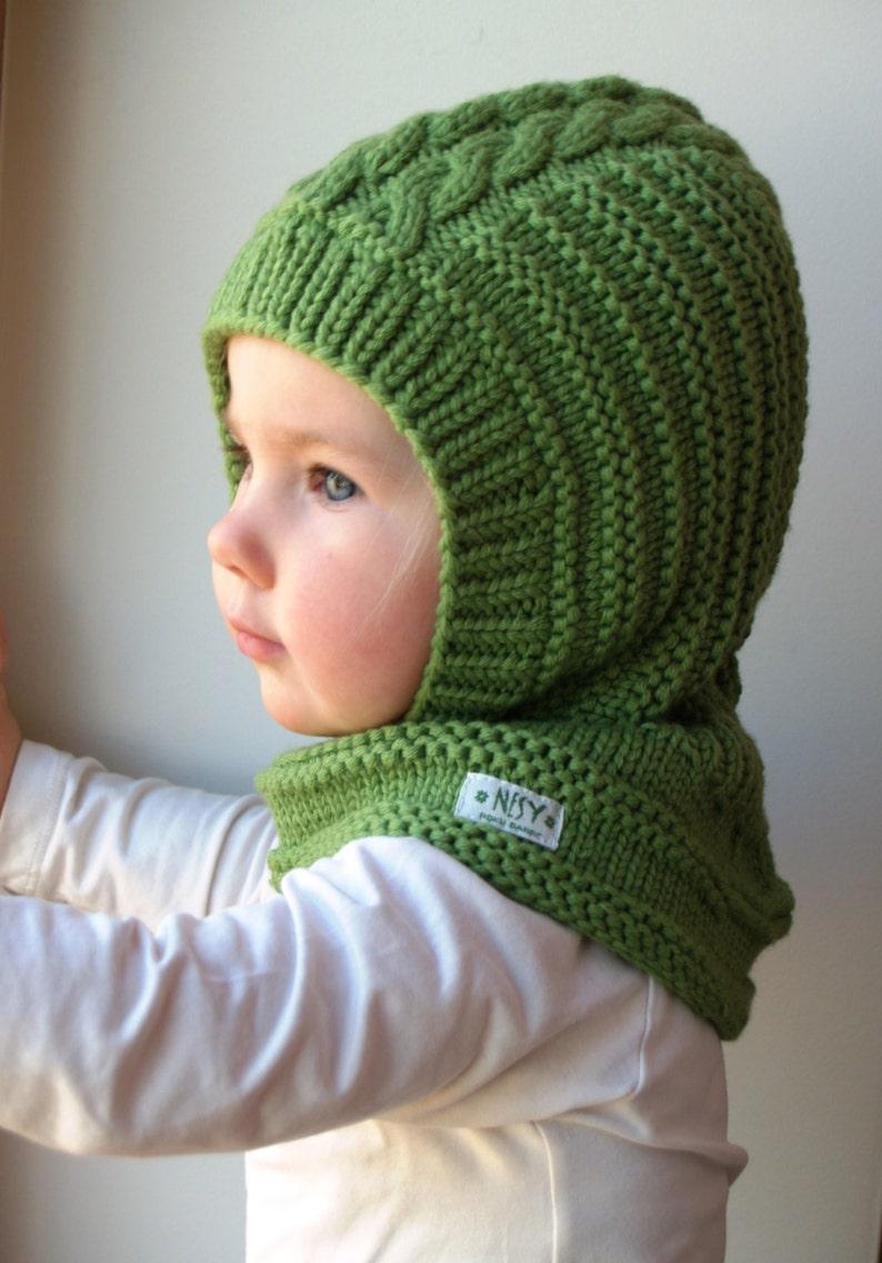 Merino Balaclava Baby Toddler  Kids Hoodie Hat  Neckwarmer Bright ... 2ecfd38ea11