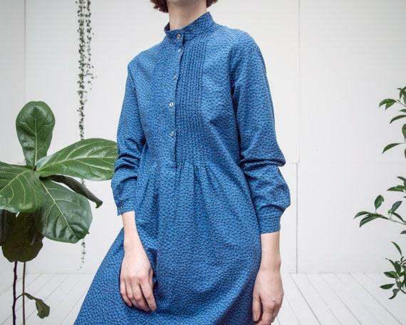 Vintage MARIMEKKO midi dress dark blue spotted pri