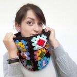 RESERVED**** custom Granny Square Crochet Snood Scarf - Infinity Scarf - Handmade Fashion - ooak - 70's style fashion - seventies