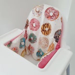 Cushion cover for the Antilop IKEA highchair - cushion cover only - donut Krispy kreme doughnut high chair cushion cover - gender neutral