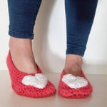 Crochet Slippers - Adult sizes 1-10  - custom - Handmade Crochet Shoes - cute quirky gift for her - mummy Christmas gift -  MADE TO ORDER