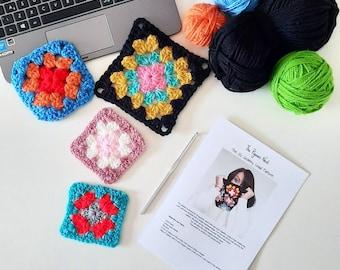 Learn to Crochet Kit with Video Tutorials - Crochet Nada to TA-DA! Crochet for beginners.