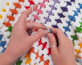 Rainbow Blanket Crochet Kit - ivf baby blanket - crochet kit - how to kit