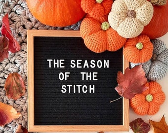 Crochet DIY Pumpkin Kit - pastel pumpkins - autumnal fall decor