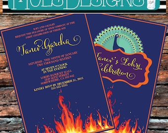 Lohri Invitation Etsy