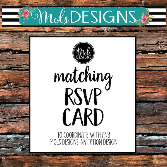 Rsvp Wedding Card Any Color Match My Invitation Response Card Baby Bridal Rehearsal Dinner Birthday Reception Only Party 4 25x5 5 Insert