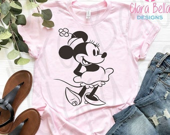 9b3af15f9 Vintage Minnie Mouse Shirt, Classic Minnie Tee, Trendy Unisex Disney T-Shirt,  Cute Women's Tee, Matching Family Shirts, Vacation Gift