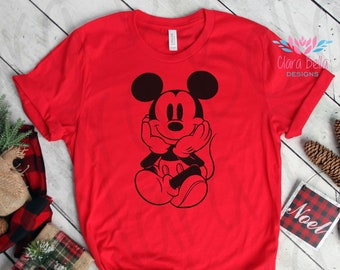 65351682 Vintage Mickey Mouse Shirt, Classic Mickey Tee, Trendy Unisex Disney T-Shirt,  Cute Women's Tee, Matching Family Shirts, Vacation Gift