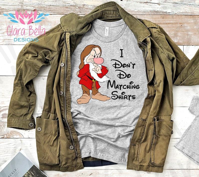 93da4780ee I Don't Do Matching Shirts Funny Disney Dad Shirt Grumpy | Etsy