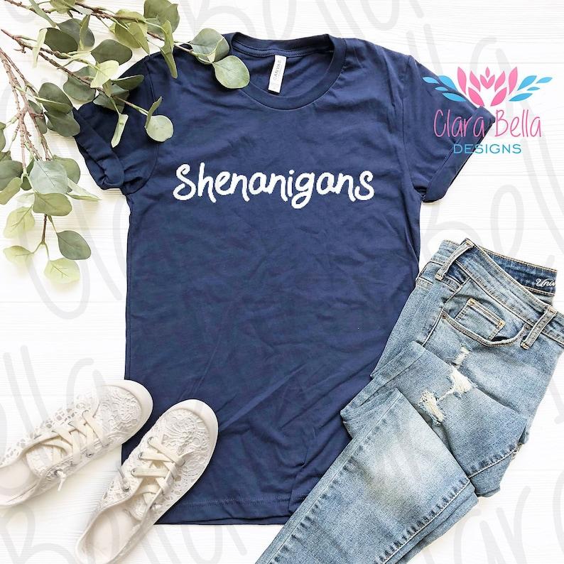 6254c65213b9d0 Shenanigans T-Shirt Blues Tee Lucky Irish Shirt St