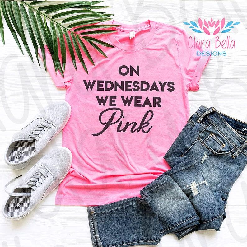 988db1bd On Wednesdays We Wear Pink Shirt Mean Girls Shirt Pink | Etsy