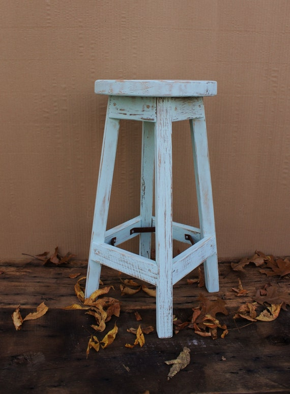 Peachy Bar Stool Rustic Reclaimed Barn Wood Finished W Round Top 29 30 31 32 33 Tall Bralicious Painted Fabric Chair Ideas Braliciousco