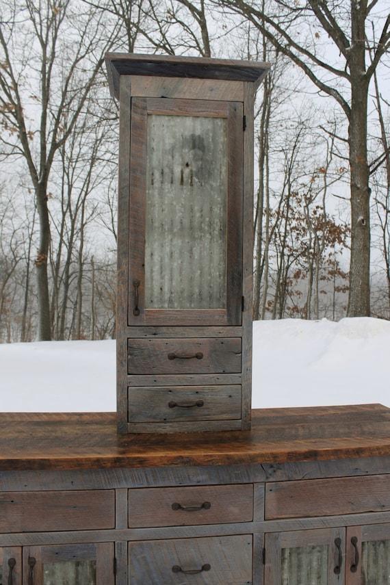 Rustic Bathroom Vanity Linen Cabinet Reclaimed Barn Wood Etsy