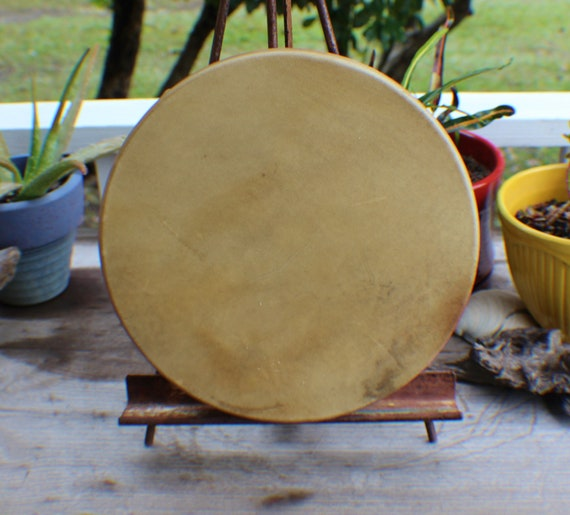 "Drum Beater w// Deer Leather 12/"" Length Cherokee made William Lattie Cert of Auth"
