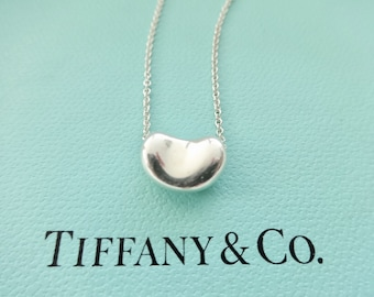 032a115c37 Authentic Tiffany & Co. Elsa Peretti 12mm Bean Necklace Sterling Silver  Pendant Necklace