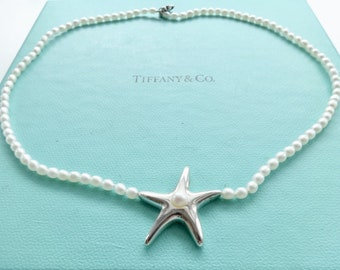 8455e8cb1 Authentic Tiffany and Co. Starfish Pearl Sterling Silver Necklace