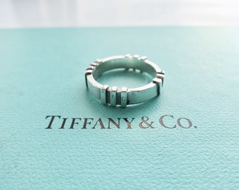 67c83124d47 Authentic Tiffany & Co. Atlas Band Ring Sterling Silver, Size 6.5
