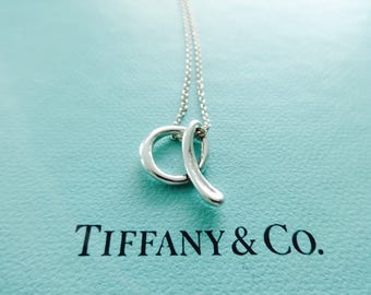 Tiffany alphabet etsy authentic tiffany co elsa peretti alphabet letter a sterling silver initial pendant necklace aloadofball Images
