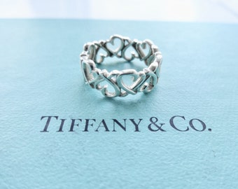 fc93d7008 Authentic Tiffany & Co. Paloma Picasso Loving Heart Band Ring Sterling  Silver Size 6