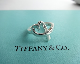 0a0cbac5a Authentic Tiffany & Co. Paloma Picasso Sterling Silver Ring Loving Heart  Ring Size 5.5