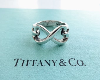 693bd3dc3 Authentic Tiffany & Co. Paloma Picasso Double Loving Heart Ring Sterling  Silver Size 9