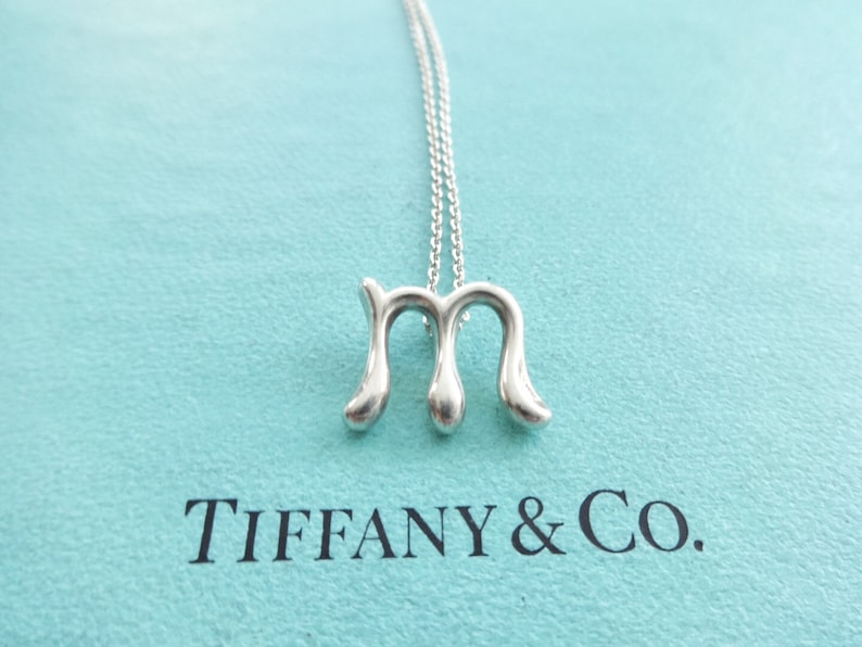 a938a1950af42 Authentic Tiffany & Co. Elsa Peretti Sterling Silver Letter