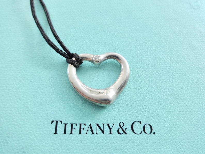 cdcb83186 Authentic Tiffany & Co. Elsa Peretti Sterling Silver Diamond | Etsy