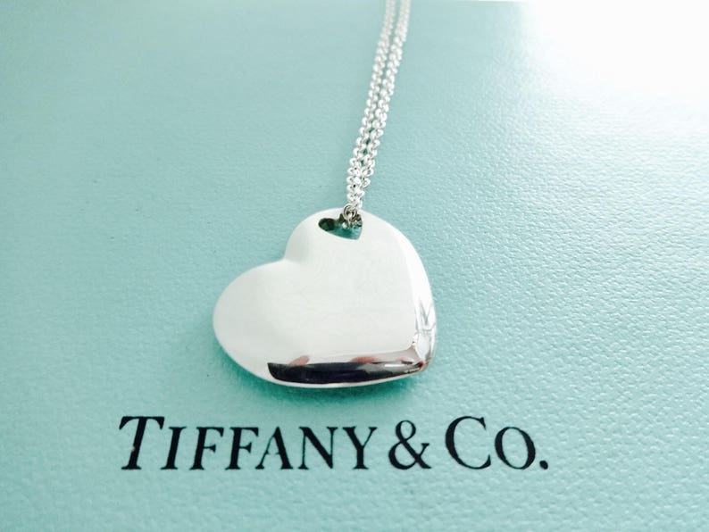 b46df28b4 Authentic Tiffany & Co. Double Puff Puffy Heart Stencil | Etsy
