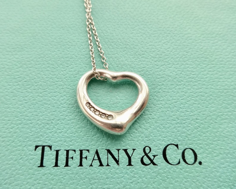 e4d2d6ef9 Authentic Tiffany & Co. Elsa Peretti Open Heart with Five | Etsy