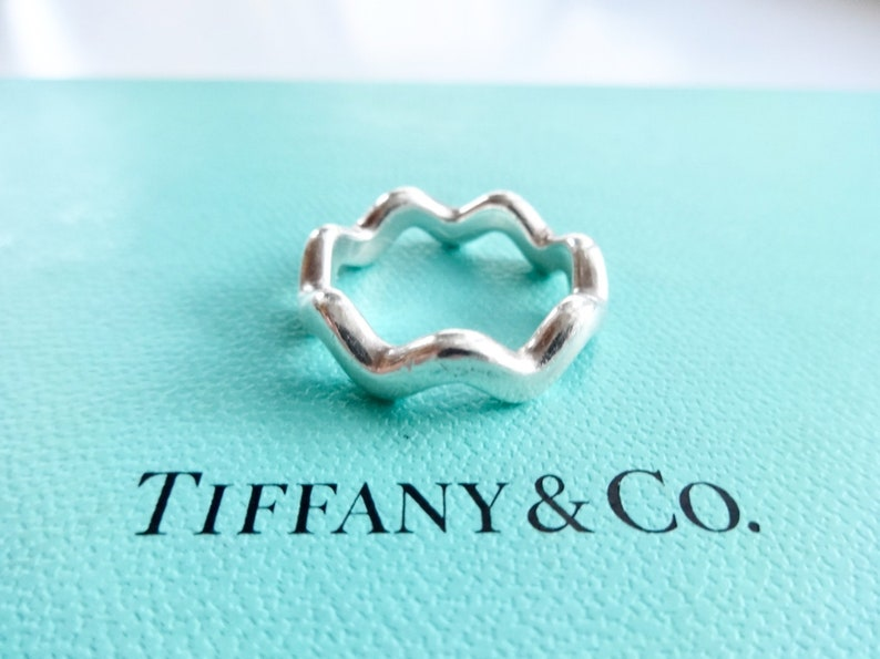 24331c99a Authentic Tiffany & Co. Paloma Picasso Sterling Silver Zig Zag | Etsy