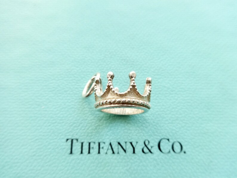 49b0f16fa910d Authentic Tiffany & Co. Crown Charm Three Dimensional Pendant Sterling  Silver