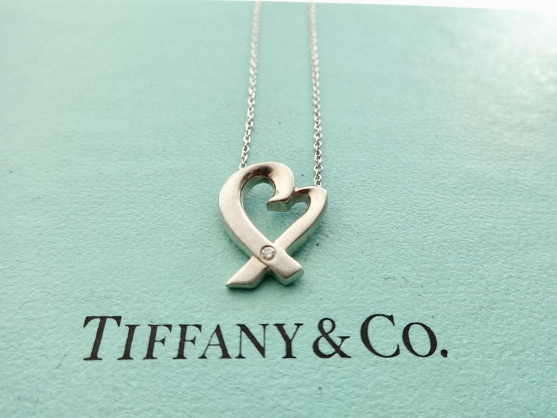 528159c07 Authentic Tiffany & Co. Paloma Picasso Loving Heart with a | Etsy