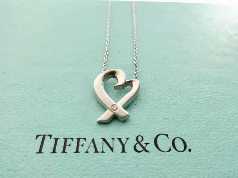 791a3cbdf Authentic Tiffany & Co. Paloma Picasso Loving Heart with a | Etsy