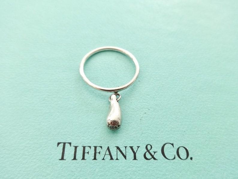 1233e02db Authentic Tiffany & Co. Elsa Peretti Teardrop Dangle Ring | Etsy