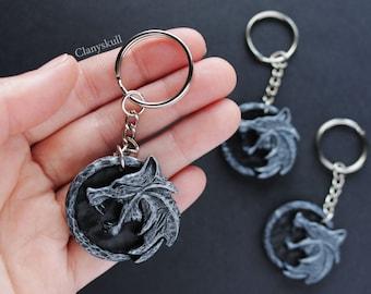 LIQUIDATION. Keychain The Witcher. The Witcher. Geralt de Rivia. Keychain Geralt de Rivia. Keychain wolf. Medallion. Lobo. Geek gift.