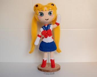 Sailor Moon amigurumi. Usagi Tsukino amigurumi. Sailor Moon. Chibi amigurumi. Serena amigurumi. Doll. Manga.