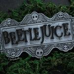 Beetlejuice magnet. Beetlejuice. Tim Burton. magnet. Gothic decor. Gothic. Gothic magnet. Magnet. Decor.