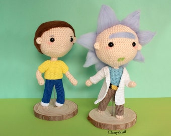 TV show amigurumi. Geek amigurumi. Rick and Morty amigurumi. Amigurumis. Chibi amigurumi. Scientific amigurumi. Netflix amigurumi.