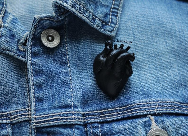 TARE Anatomy heart brooch. Human heart brooch. Anatomy heart. image 0