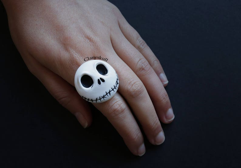 Nightmare before christmas ring. Jack Skellington jewelry. image 0
