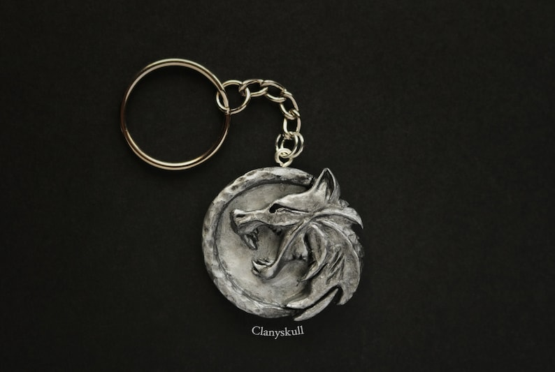 Keychain The Witcher. The Witcher. Geralt de Rivia. Keychain image 0